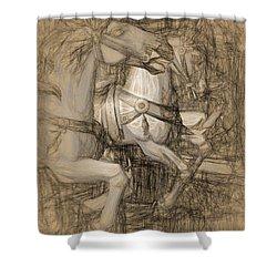Da Vinci Carousel Shower Curtain