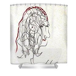 Da Vinci Drawing Shower Curtain