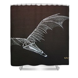 Da Vinci Flying Machine Shower Curtain