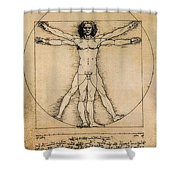 Da Vinci Rule Of Proportions Shower Curtain by Science Source
