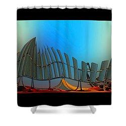 Da Vinci's Outpost Shower Curtain