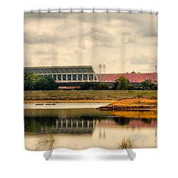 Shower Curtain featuring the photograph Dabo's First Game by Lynne Jenkins