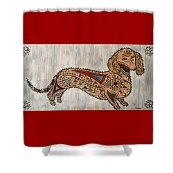 Dachshund - Jellybean Shower Curtain