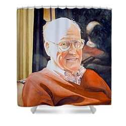Dad's Red Sweater Shower Curtain