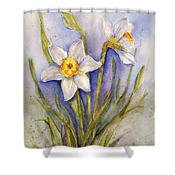 Daffodil Couple Shower Curtain