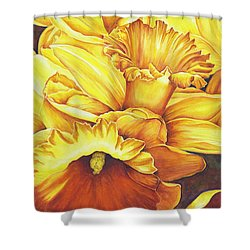 Daffodil Drama Shower Curtain