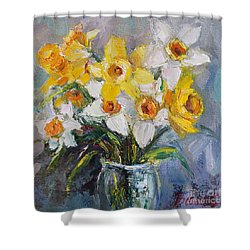 Daffodil In Spring  Shower Curtain by Jennifer Beaudet