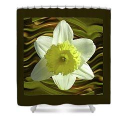 Daffodil Swirl Shower Curtain