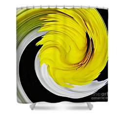 Daffodil Twist Shower Curtain by Sarah Loft