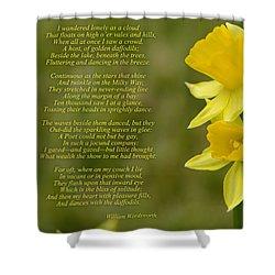 Daffodils Poem By William Wordsworth Shower Curtain