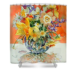 Daffs And Daisies Shower Curtain