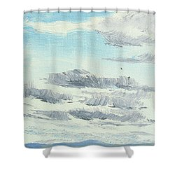 Dagrar Over Salenfjallen- Shifting Daylight Over Distant Horizon 10 Of 10_0029 Shower Curtain