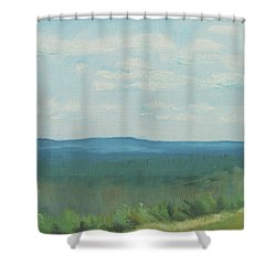 Dagrar Over Salenfjallen- Shifting Daylight Over Distant Horizon 3 Of 10_0029 50x40 Cm Shower Curtain