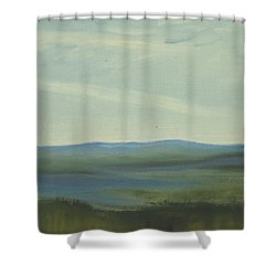 Dagrar Over Salenfjallen- Shifting Daylight Over Distant Horizon 6 Of 10 Shower Curtain