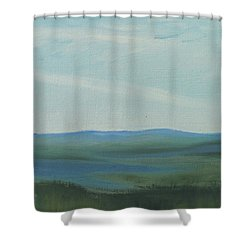 Dagrar Over Salenfjallen- Shifting Daylight Over Distant Horizon 6a Of 10_0027 50x40 Cm Shower Curtain