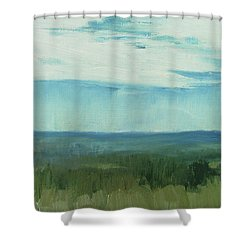 Dagrar Over Salenfjallen- Shifting Daylight Over Distant Horizon 7 Of 10_0029 Shower Curtain