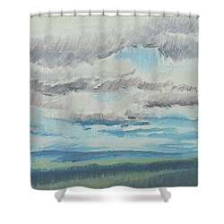Dagrar Over Salenfjallen- Shifting Daylight Over Distant Horizon 8 Of 10_0029 Shower Curtain
