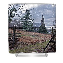 Dahlgren Chapel Winter Scene Shower Curtain