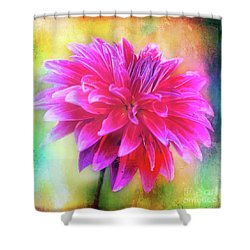 Dahlia Abstract Shower Curtain