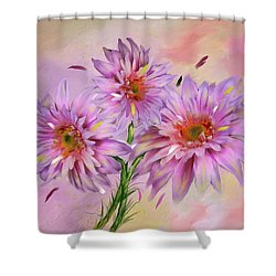 Dahlia Bouquet Shower Curtain by Mary Timman