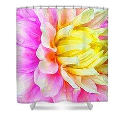 Dahlia Details, An Original Digital Shower Curtain