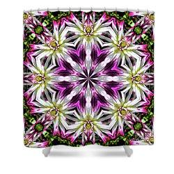 Dahlia Flower Circle Shower Curtain