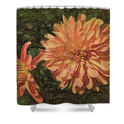 Dahlia Sketch Shower Curtain