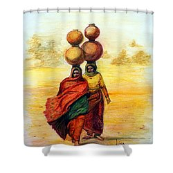 Daily Desert Dance Shower Curtain
