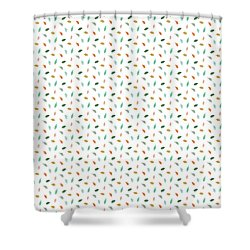 Shower Curtain featuring the drawing Dainty Leaves by Jocelyn Friis