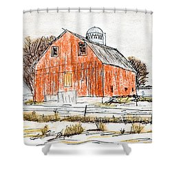 Dairy Barn Shower Curtain by R Kyllo