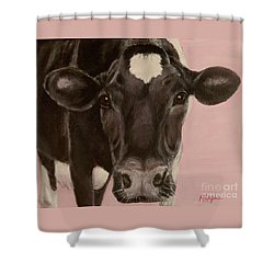 Dairy Cow Princess In Pink Shower Curtain