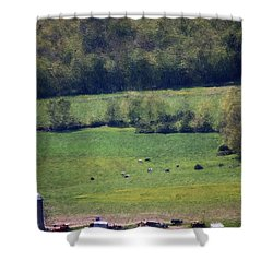 Dairy Farm In The Finger Lakes Shower Curtain by David Lane