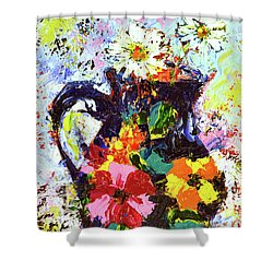 Daisies In The Portuguese Jug Shower Curtain