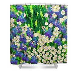 Daisy And Glads Shower Curtain by George Riney