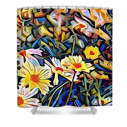 Daisy Dream Shower Curtain by Geri Glavis