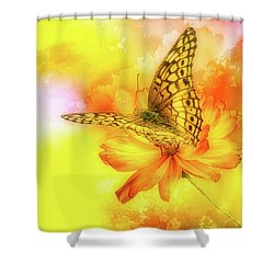 Daisy For A Butterfly Shower Curtain