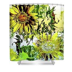 Sunflower On Water Shower Curtain