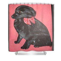 Daisy Scared Little Dog Shower Curtain
