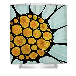 Daisy Shower Curtain by Sharon Cummings