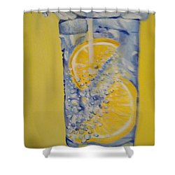 Shower Curtain featuring the painting Dakota Flint Prayer by Saundra Johnson
