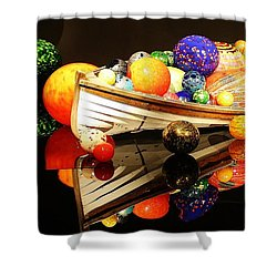 Glass Sculpture Boat Shower Curtain