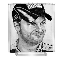 Dale Earnhardt Jr In 2009 Shower Curtain by J McCombie