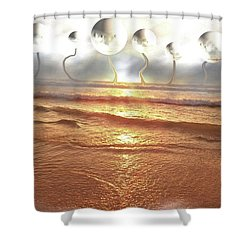 Dali, Here In Brazil Shower Curtain by Beto Machado