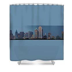 Shower Curtain featuring the photograph Dallas At Night by Jonathan Davison