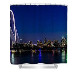 Dallas At Night Shower Curtain by Tamyra Ayles