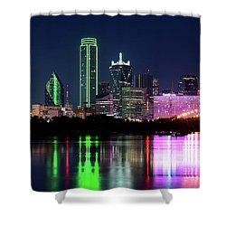Dallas Colorful Night 52716 Shower Curtain