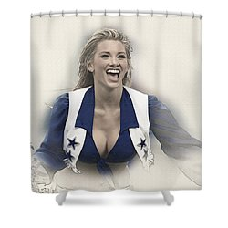 Dallas Cowboys Cheerleader Katy Marie Performs Shower Curtain