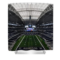 Dallas Cowboys Stadium End Zone Shower Curtain