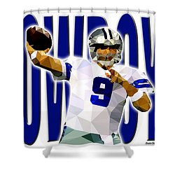 Shower Curtain featuring the digital art Dallas Cowboys by Stephen Younts
