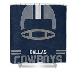 Dallas Cowboys Vintage Art Shower Curtain